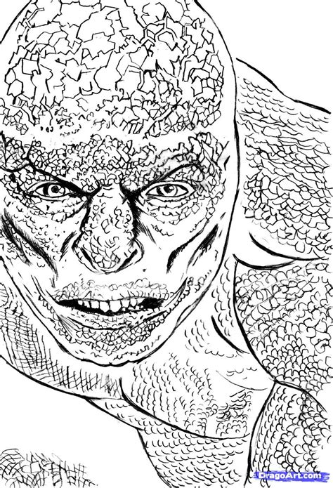 The Amazing Spider Coloring Pages Amazing Spider Amazing Spider Lizard Coloring Pages