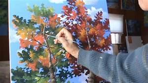peindre arbres video complete normale acrylique toile With repeindre sur de la peinture