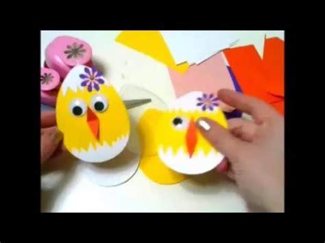 basteln mit kindern kueken aus karton youtube