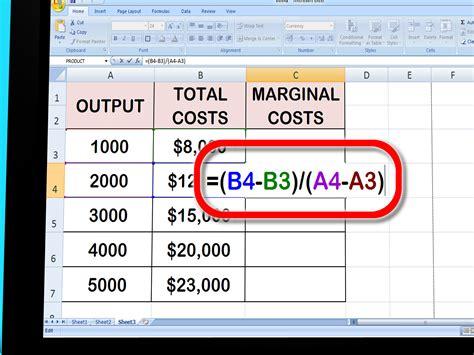 como calcular el costo marginal  pasos  fotos