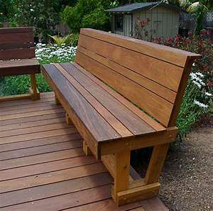 Ipe Hardwood Bench - Modern - Outdoor Benches - san diego