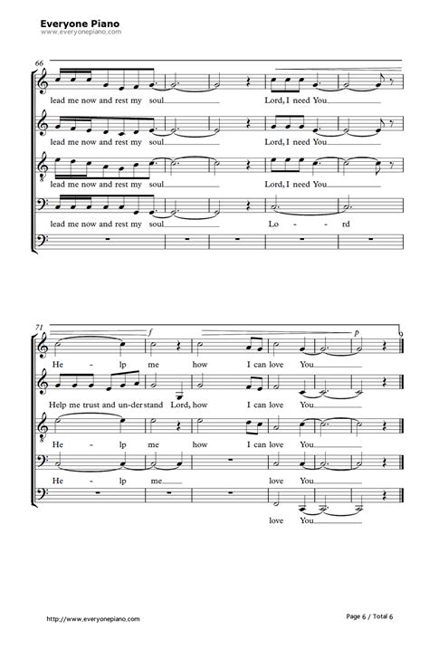 lord i need you stave preview 6 free piano sheet music