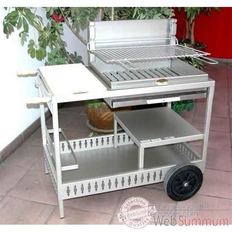 barbecue montory inox sur chariot le marquier dans barbecues sur chariot de barbecues