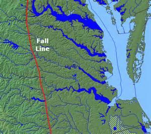 Virginia Fall Line Map