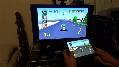 kindle fire 64 n64 hdmi screen hd mario dual kart test gaming