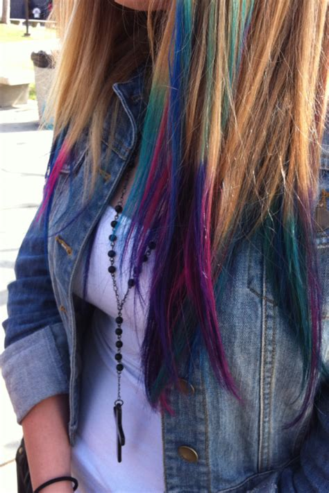 dyed tips  tumblr