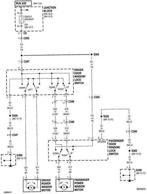 Dodge Ram Power Window Wiring Diagram by I A 99 Dodge Ram 1500 5 2 L I Lost The Radio