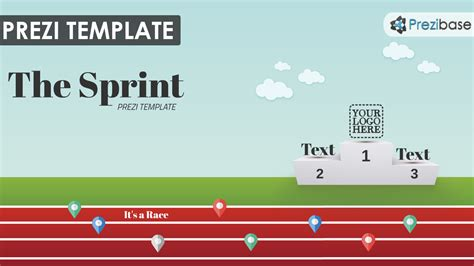 sports templates the sprint prezi template prezibase