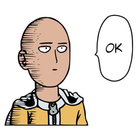 Ok Meme Face - one punch man saitama ok face transparent png stickpng