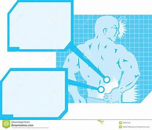 Back Pain Diagram Stock Images