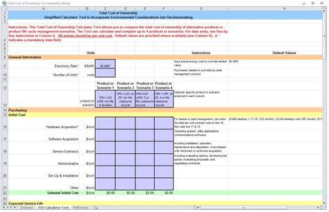 total cost  ownership total cost  ownership template