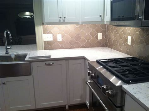 Silestone tops & arabesque backsplash   Kitchen