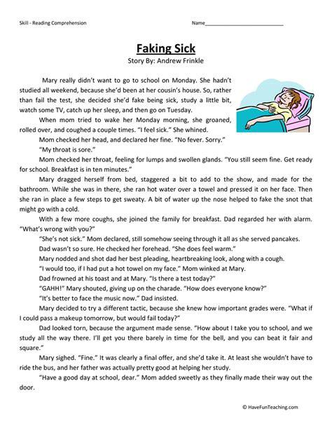3rd Grade Reading Comprehension Worksheets Have Fun Teaching  Sixth Grade Reading Comprehension