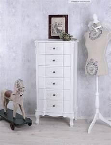Kommode Vintage Weiß : kommode weiss hochkommode shabby chic 6 schubladen vintage ~ Orissabook.com Haus und Dekorationen