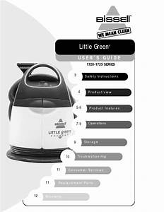 Bissell Little Green Portable Deep Cleaner Manual