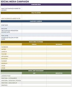 18 social media marketing plan template that will make for Campaign schedule template