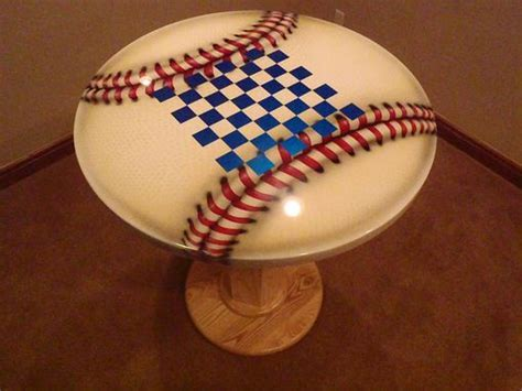 Custom Ultimate Baseball Man Cave Table by Vail Custom