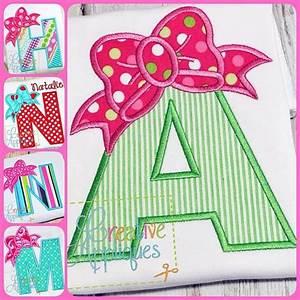bow alphabet applique set creative appliques With applique letters for sale