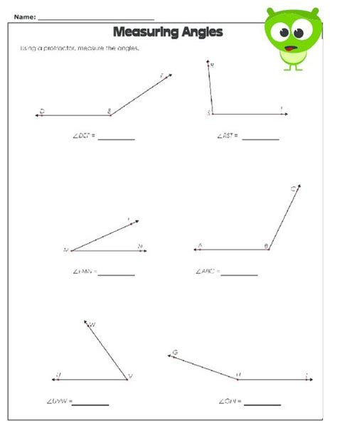Measuring Angles Worksheet  Protractor, Free Worksheets And Worksheets