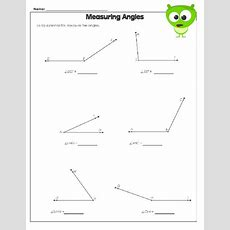 Measuring Angles Worksheet  Math Worksheets, Worksheets And Cool Math