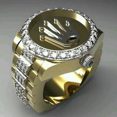 rolex ring  images mens jewelry