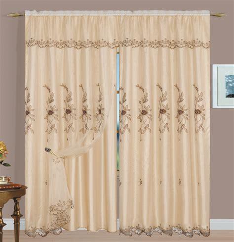 margot sheer embroidery panel beige luxury home