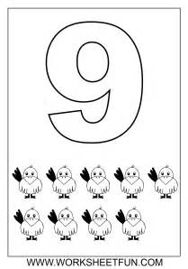 Worksheets Number 9 Coloring Page