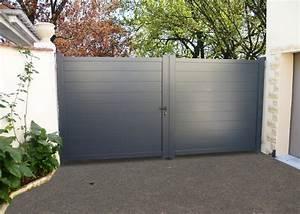 Portail En Aluminium : portail en aluminium battant fabricant cloture aluminium ~ Melissatoandfro.com Idées de Décoration