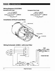 Installation Of Brush Lead Wires  Wiring Schematic  230v