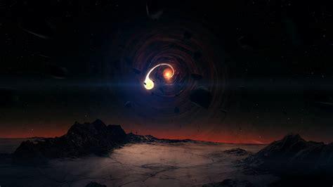 full hd wallpaper funnel asteroid surface planet desktop