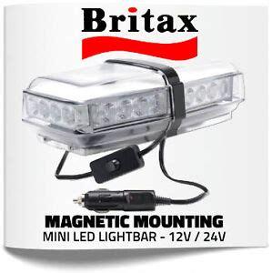 britax a100 led mini magnetic mount light bar 12v 24v strobe beacon ebay