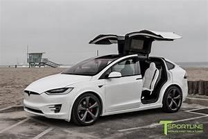 Tesla Modele X : pearl white 2016 tesla model x p90d ludicrous white ~ Melissatoandfro.com Idées de Décoration