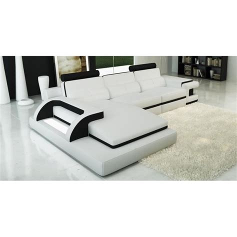cdiscount canape cuir canape design blanc pas cher