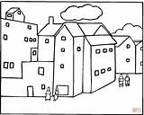 Coloring Pages Neighborhood Buildings Apartment Printable Houses Around Freecoloringpagefun Template Clipart Colouring Apartments Coloringhome sketch template