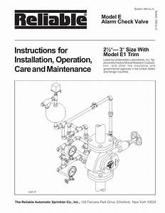 Instructions For Installation  Operation  Model E Alarm