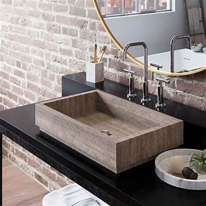 Sink, U0026, Faucet, Innovative, And, Professional, Environments, By, Using, Stone, Vessel, Sinks