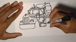 Drawing Trucks    Kenworth W900