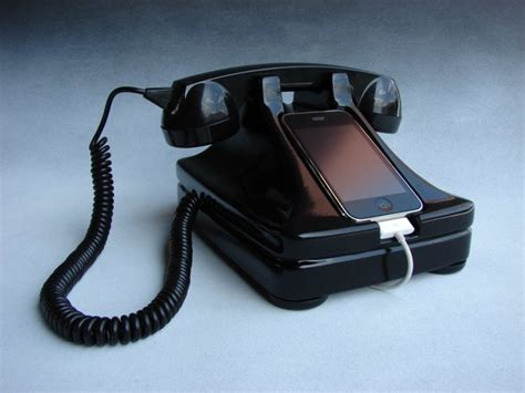retro phone for iphone retro style iphone phone dock wired