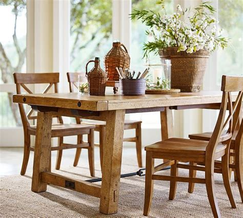 benchwright extending dining table chairs pottery and