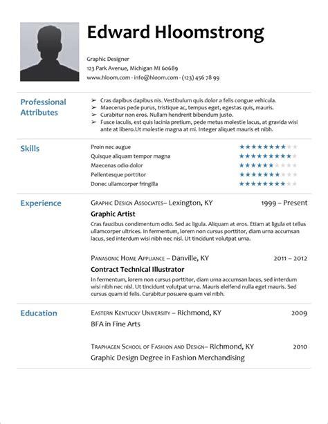Doc Templates Resume by 45 Free Modern Resume Cv Templates Minimalist Simple