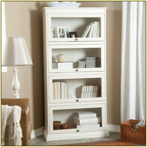 Bookcase With Doors White by White Bookcase With Glass Door For Elgant Interior With