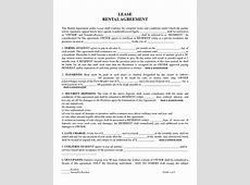 Free Printable Residential Lease Agreement Residential