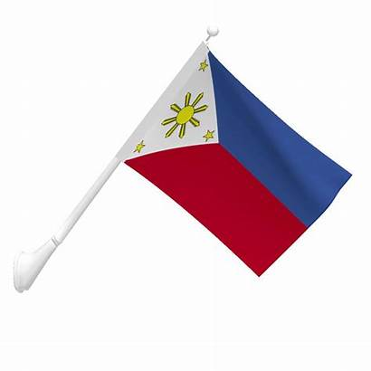Flag Philippine Philippines Flags Clipart Pole Cliparts