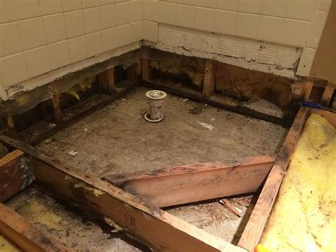 "Corner Fiberglass Shower Pan Can I ""build It Up"" To Make"