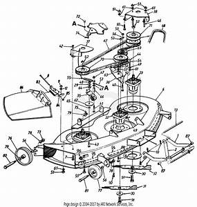 Mtd 146w834h401  1996  Parts Diagram For Deck Assembly