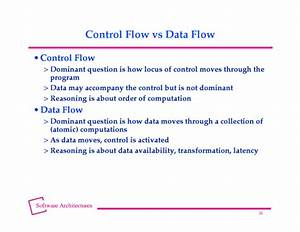 Control Flow Vs Data Flow