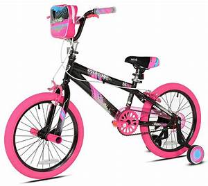 Girls Kent Sparkles Bike 18 Inches Rear Foot
