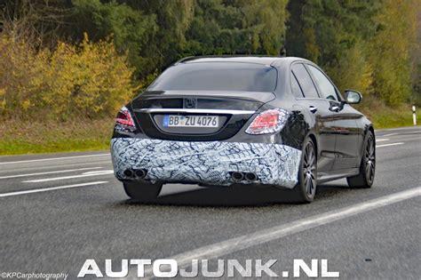 c klasse facelift 2017 spyshot mercedes c klasse facelift foto s 187 autojunk nl