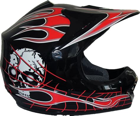 motocross crash helmets childrens kids motocross crash helmet by qtech black