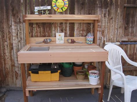 potting bench with sink cedar wood potting bench with sink gardenista bench
